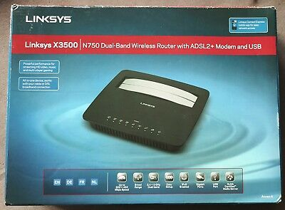 Linksys X3500 modem routeur WiFi N750 double bande