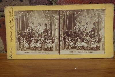 French Diableries Stereoview A41 Orphee Chasse Des Enfers c1850's