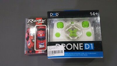 Miniture Remote control bundle Rc Quadcopter and Rc Car Tiny Size drone unopened