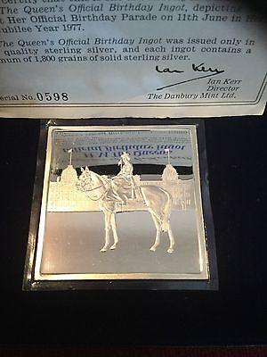 1977 HM The Queens Birthday Silver Ingot Proof Quality Sterling Silver 121g