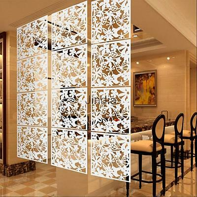4Pcs Butterfly Bird Flower Hanging Screen Room Divider Panel Home Deco White