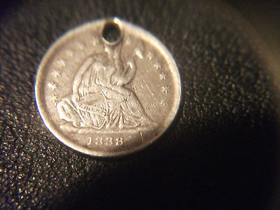 1838 United States, Seated Liberty Half Dime.