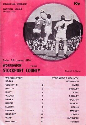 WORKINGTON v STOCKPORT 1975/76 DIVISION 4