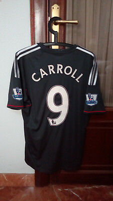 #9 CARROLL, LIVERPOOL FC Official away shirt used in EPL 2011-12