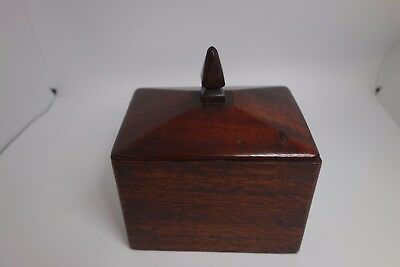Antique wooden tobacco box