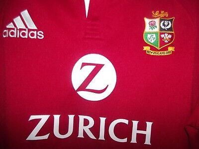 british lions adidas new zealand 2005 rugby union shirt xl super cond