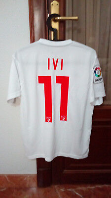 #11 IVI, SEVILLA ATHL. Match Worn PLAYER home shirt Spanish 2ª DIV. LFP 2016-17