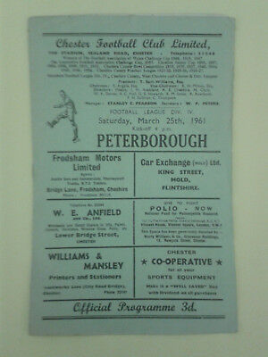 Chester v Peterborough United 1960/1 First league season for Peterborough