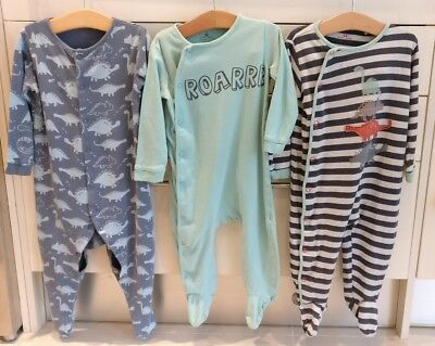 Next Boys Dinosaur Babygrow Sleepsuit Set 12-18 Months