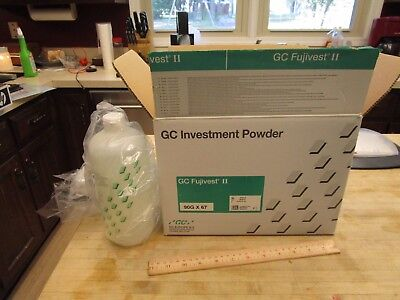 Go Fujivest II INVESTMENT And  Special liquid 39 Bags Dental Lab