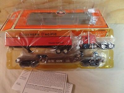 Lionel Lrrc Sp Southern Pacific Flat Car W/semi Truck Tractor Trailer 6-52222
