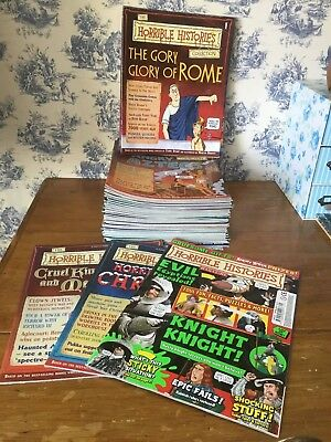 The HORRIBLE HISTORY magazine collection complete issues 1-60