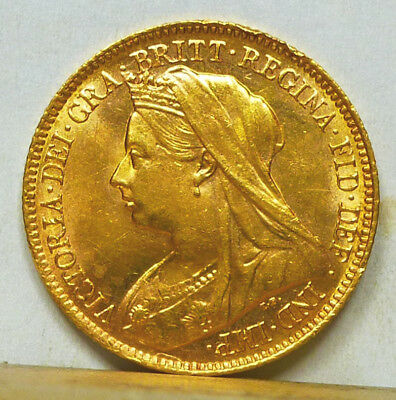Great Britain Gold Half Sovereign 1901 Choice AU/Uncirculated