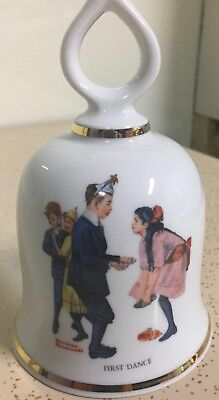 "Norman Rockwell ""first Dance"" Collectible Bell 1979 - Made In W. Germany"