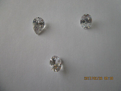Lot Of 3  Zircon Retail Over 1000$ 4.20,514,4.68 Carats 2 Oval And One Per Cut