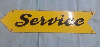 "Porcelain SERVICE Sign SIZE 24"" X 5.5""  INCHES"