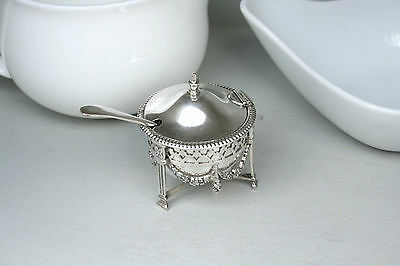 Mustard Pot  English Sterling Silver 1911