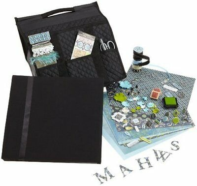 SCRAPabilities  Quilted Scrapbooking Gift Bag, Blue/Black