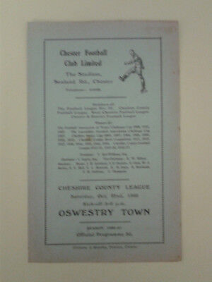 Chester Reserves v Oswestry Town Cheshire League 1960/1