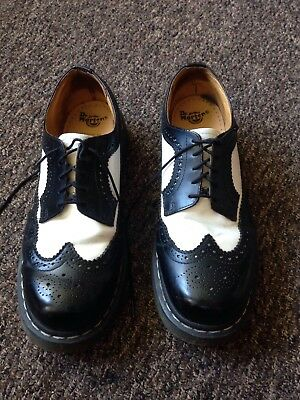 Black And White Dr Martens Brogue Shoes Size 10