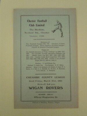 Chester Reserves v Wigan Rovers Cheshire League 1960/1