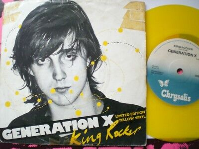 Punk - Generation X - King Rocker - Yellow Vinyl - Picture Cover