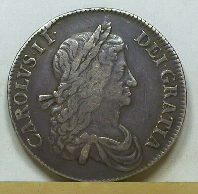 England Crown 1663 About Very Fine