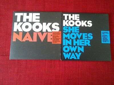 """The kooks """"Naive""""""""She Moves In Her Own Way"""" 2 x 7"""" vinyl singles sealed"""