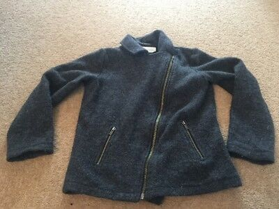 Girls Grey 100% Wool Jacket The White Company Age 7-8 Years