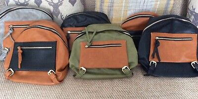 Joblot 6 Backpacks With Adjustable Straps Resale/Xmas Gifts/Fetes/Carboot