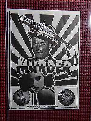 Murder 1972 San Francisco Comic Co 500 Copies 1334 1st print S Clay Wilson