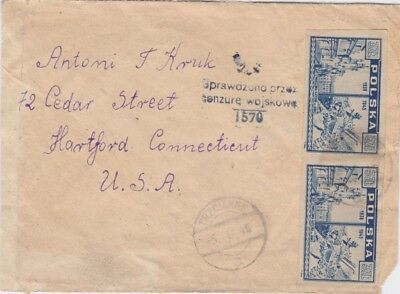 Poland-1946 Warsaw censored Trzcianne letter cover to United States
