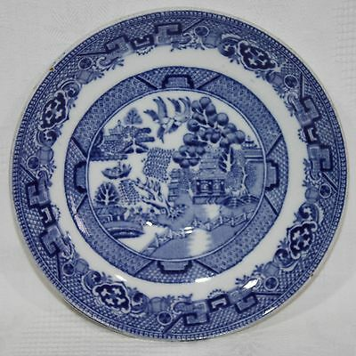 Vintage Alfred Meakin Old Willow Blue and White Saucer