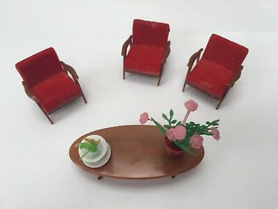1960s Hong Kong Plastic Dolls House Furniture Empire Made
