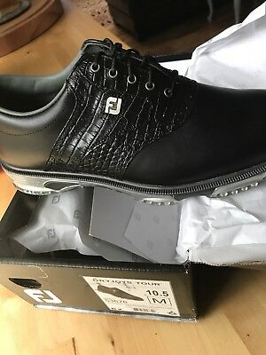 Foot Joy Dry Joys Tour Men's Golf Shoe 10.5 M Black/Black Croc