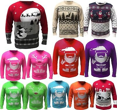 Knitted Christmas Jumper Mens Womens Xmas Novelty Vintage Unisex All Sizes x-mas