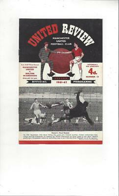 Manchester United v Bolton Wanderers FA Cup 1961/62 Football Programme