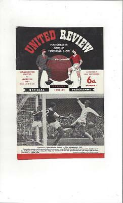 Manchester United v Leicester City 1963/64 Football Programme