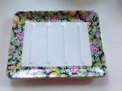 Black Beauty Chintz Lord Nelson Ware Soap Dish