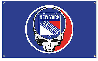Grateful Dead Steal Your Face NY Rangers Flag
