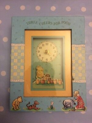 Classic Winnie The Pooh Three Cheers For Pooh Clock