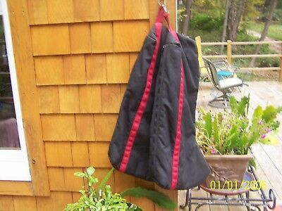 equestrian boot bags by triple crown black and red great cond.