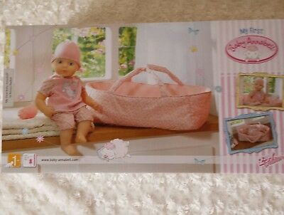 My First Baby Annabell in Moses Basket - Childs Playset - Suitable Ages 1+
