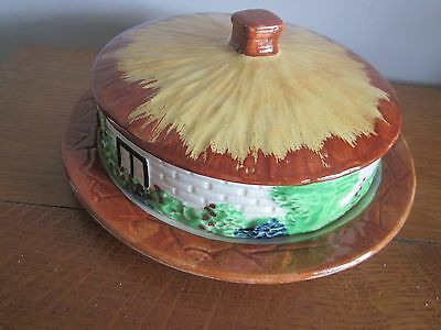 Covered Cheese or Butter Dish.Cottage Ware.Round Tudor Series.Empire Ware