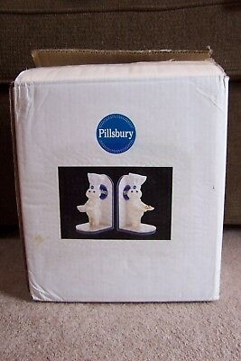 2004 Pillsbury Doughboy & Poppin' Fresh Figural Bookends Book Ends Mib In Box