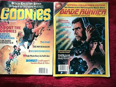 2 souvenir magazines the Goonies and Blade Runner