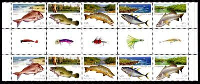 Australia - 2003 Fish / Fishing Gutter Strip of Ten MNH   (Ref: 130)