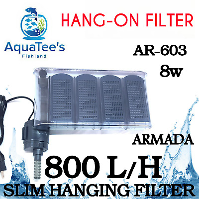 Armada Ar603 Hang-On Aquarium Water Filter 800L/h Marine Aqua Fountain Nano Pond