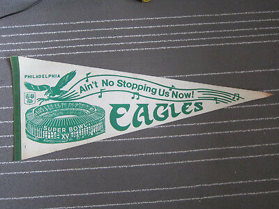 Vintage Collectable Philadelphia Eagles Super Bowl XV Pennant Ain't No Stopping