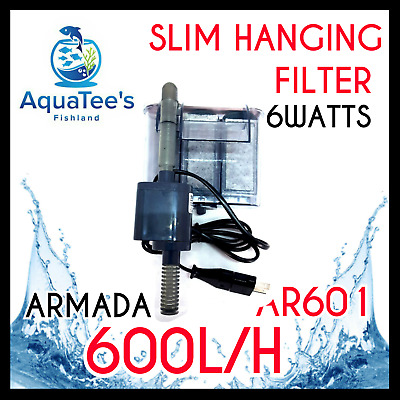 Armada Ar601 Hang-On Aquarium Filter Water Pump 600L/h Marine/aqua Fountain Nano